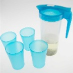Plastic-pitcher-w-4-cups-NW1553-56